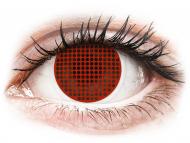 Červené kontaktné šošovky - nedioptrické - ColourVUE Crazy Lens - Red Screen - nedioptrické (2čočky)