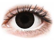 Nedioptrické farebné šošovky - ColourVUE Crazy Lens - Black Screen - nedioptrické (2čočky)