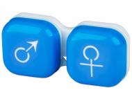 Puzdra a kazetky - Puzdro na šošovky muž a žena - modré