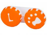 Puzdra a kazetky - Puzdro na šošovky Labka - oranžové