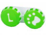 Puzdra a kazetky - Puzdro na šošovky Labka - zelené
