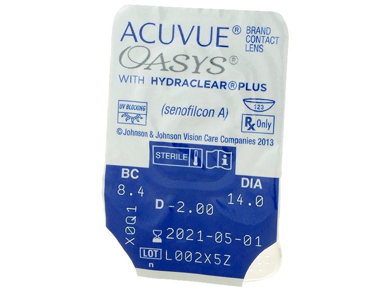 Acuvue Oasys (24 šošoviek) - Vzhľad blistra so šošovkou