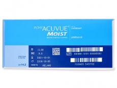 1 Day Acuvue Moist (180šošoviek) - Náhľad parametrov šošoviek