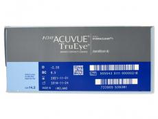 1 Day Acuvue TruEye (180šošoviek) - Náhľad parametrov šošoviek