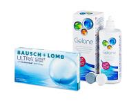 Bausch + Lomb ULTRA (6 šošoviek) + roztok Gelone 360 ml