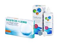 Bausch + Lomb ULTRA for Astigmatism (6 šošoviek) + roztok Gelone 360 ml