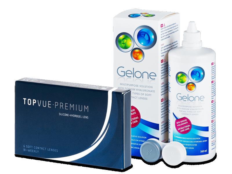 TopVue Premium (6 šošoviek) + roztok Gelone 360 ml - Výhodný balíček