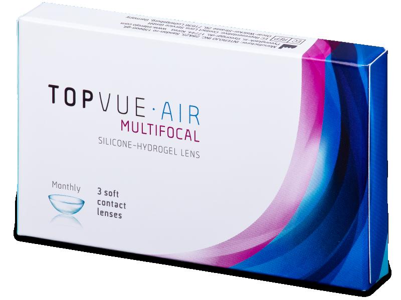 TopVue Air Multifocal (3šošovky) - Multifokálne kontaktné šošovky