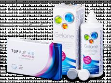 TopVue Air Multifocal (3 šošovky) + roztok Gelone 360 ml