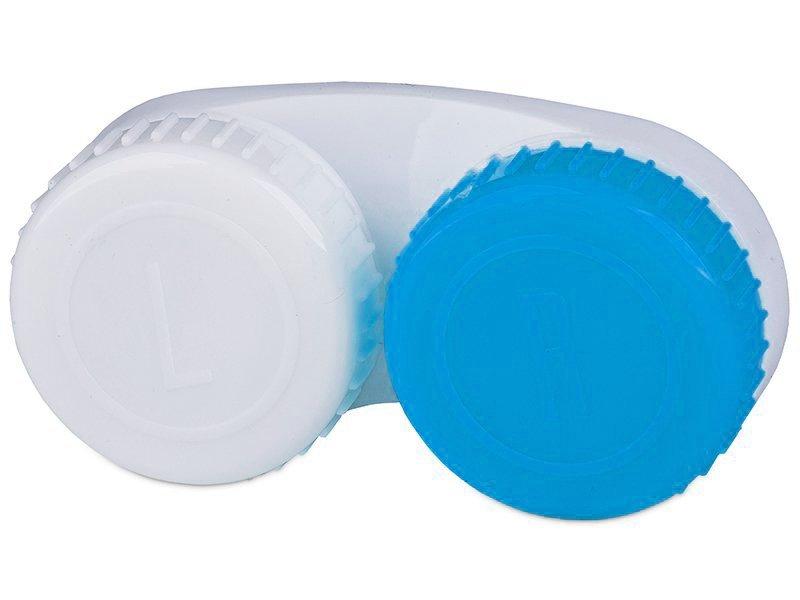 Puzdro na šošovky modro-biele so znakmi L+R