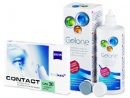 Kontaktné šošovky lacno - Carl Zeiss Contact Day 30 Compatic (6šošoviek) + roztok Gelone 360ml