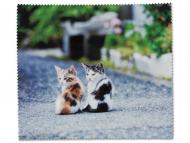 Okuliare - Čistiaca handrička na okuliare - mačiatka