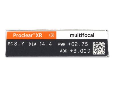Náhľad parametrov šošoviek - Proclear Multifocal XR (6 šošoviek)