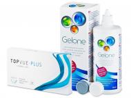 Kontaktné šošovky lacno - TopVue Plus (6 šošoviek) + Gelone 360 ml