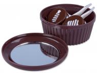 Príslušenstvo - Kazeta so zrkadielkom Muffin – hnedá