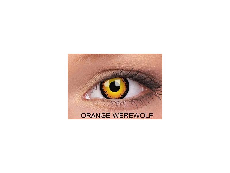 Crazy ColourVUE - nedioptrické (2šošovky) - Orange Werewolf