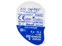 Air Optix plus HydraGlyde (6šošoviek) - Vzhľad blistra so šošovkou