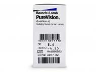 PureVision (6šošoviek) - Náhľad parametrov šošoviek