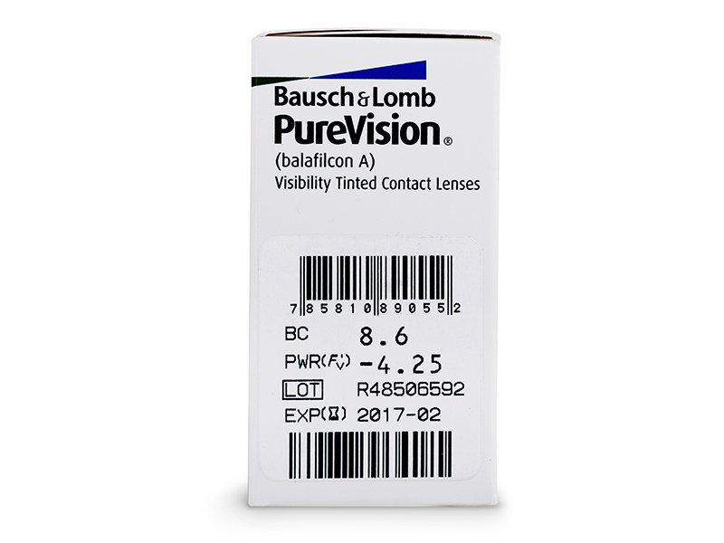 Náhľad parametrov šošoviek - PureVision (6šošoviek)