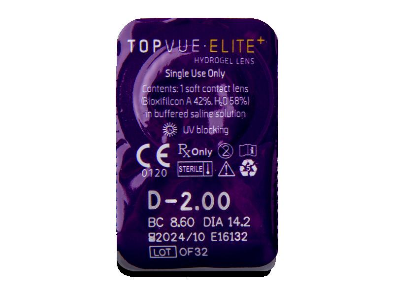 TopVue Elite+ (30 šošoviek) - Vzhľad blistra so šošovkou