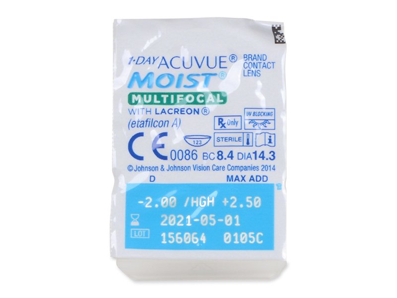 1 Day Acuvue Moist Multifocal (30 šošoviek) - Blister pack preview