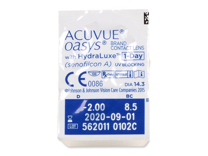 Acuvue Oasys 1-Day (30 šošoviek) - Vzhľad blistra so šošovkou