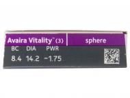 Avaira Vitality (3 šošovky) - Náhľad parametrov šošoviek