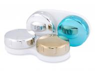 Zrkadlové puzdro na šošovky - modré