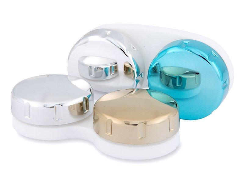 Zrkadlové puzdro na šošovky - zlaté  - Zrkadlové puzdro na šošovky - zlaté