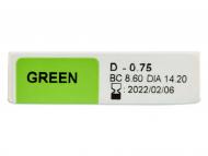 TopVue Color – dioptrické denné (10šošoviek) - Náhľad parametrov šošoviek