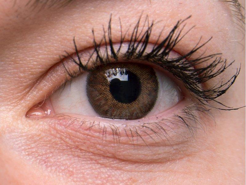 TopVue Color – dioptrické denné (10šošoviek) - Brown na šedom oku