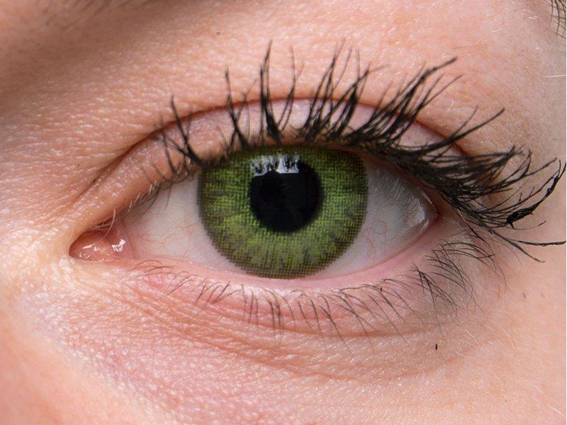 TopVue Color – dioptrické denné (10šošoviek) - Fresh green na šedom oku