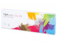 Jednodenné kontaktné šošovky - TopVue Color – nedioptrické denné (10šošoviek)