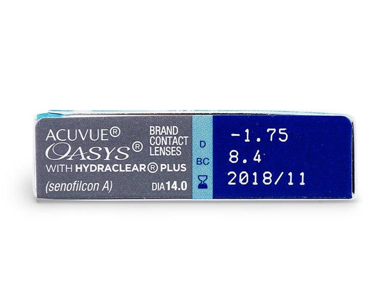 Acuvue Oasys (6šošoviek) - Náhľad parametrov šošoviek