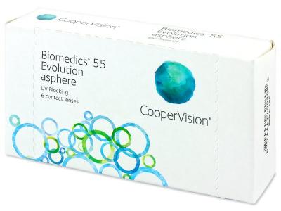 Mesačné kontaktné šošovky - Biomedics 55 Evolution (6šošoviek)