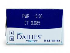 Focus Dailies All Day Comfort (30šošoviek) - Náhľad parametrov šošoviek