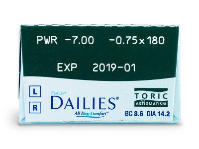 Focus Dailies Toric (30šošoviek)