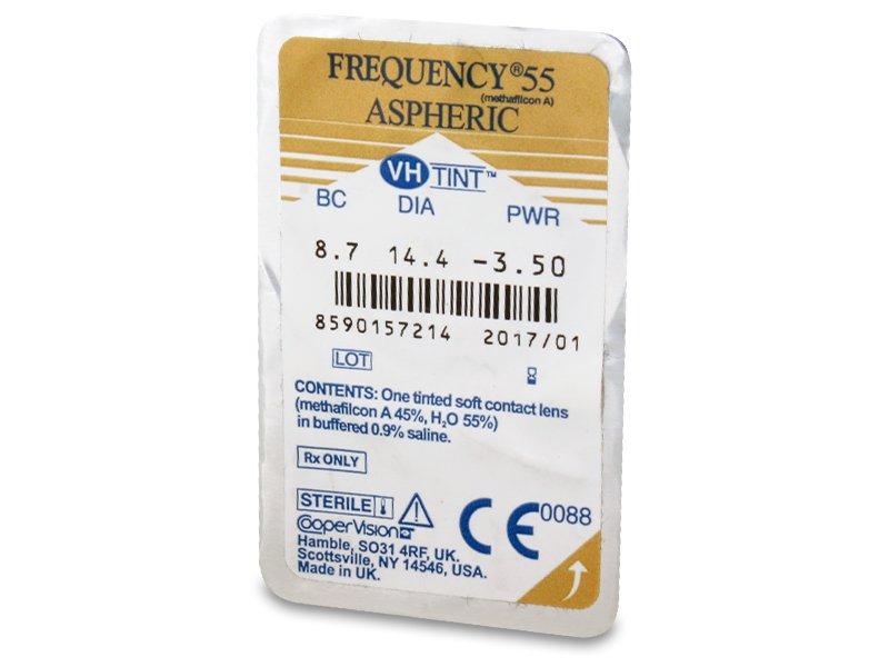 Frequency 55 Aspheric (6šošoviek) - Vzhľad blistra so šošovkou