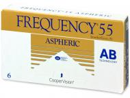 Mesačné kontaktné šošovky - Frequency 55 Aspheric (6šošoviek)