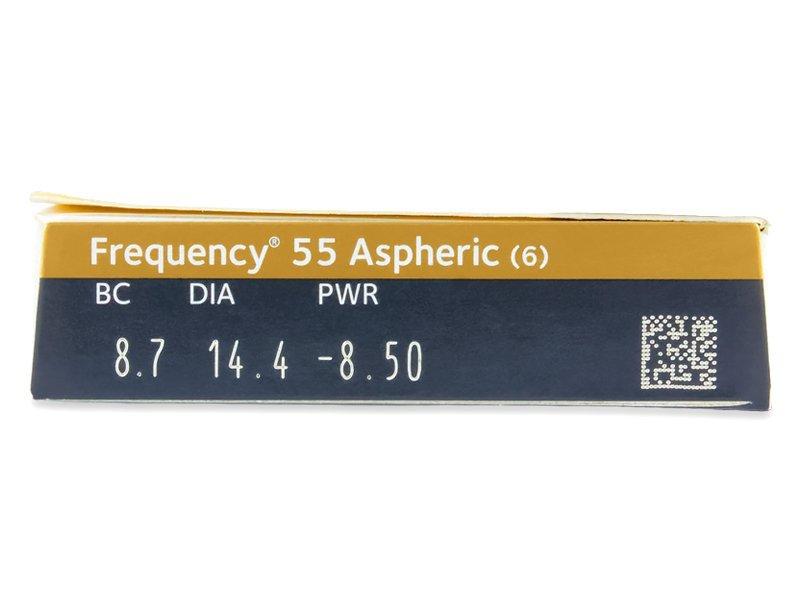 Frequency 55 Aspheric (6šošoviek) - Náhľad parametrov šošoviek