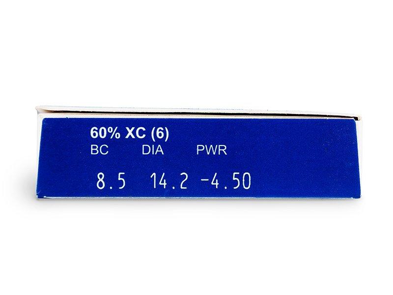 FREQUENCY XC (6šošoviek) - Náhľad parametrov šošoviek