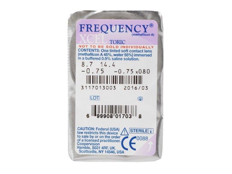 FREQUENCY XCEL TORIC (3šošovky) - Vzhľad blistra so šošovkou