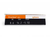 Proclear Compatibles Sphere (6šošoviek) - Náhľad parametrov šošoviek
