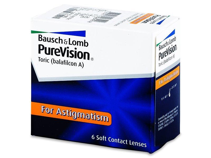 PureVision Toric (6šošoviek) - Torické kontaktné šošovky