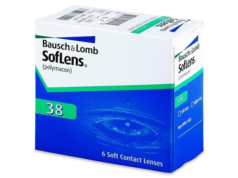 SofLens 38 (6šošoviek) - Mesačné kontaktné šošovky