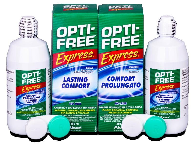 Roztok OPTI-FREE Express 2 x 355ml  - Economy duo pack- solution