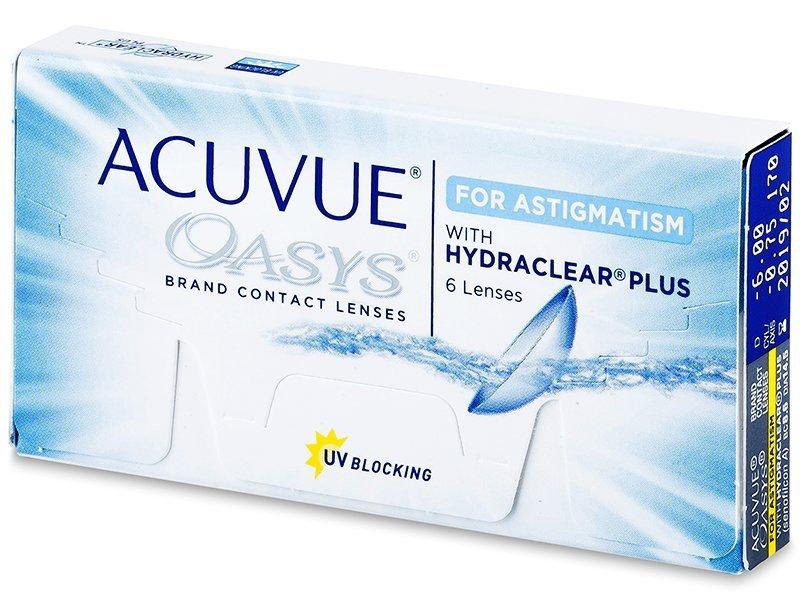 Acuvue Oasys for Astigmatism (6šošoviek) - Torické kontaktné šošovky