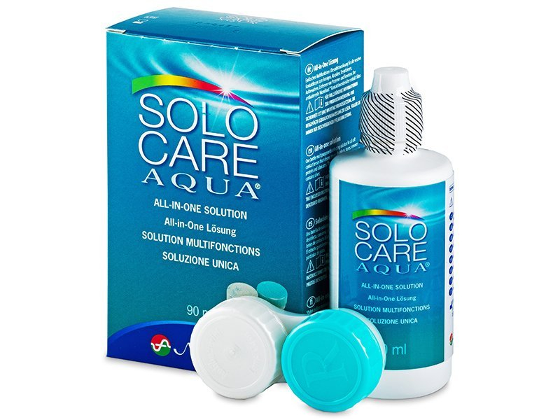 Roztok SoloCare Aqua 90ml  - Čistiaci roztok