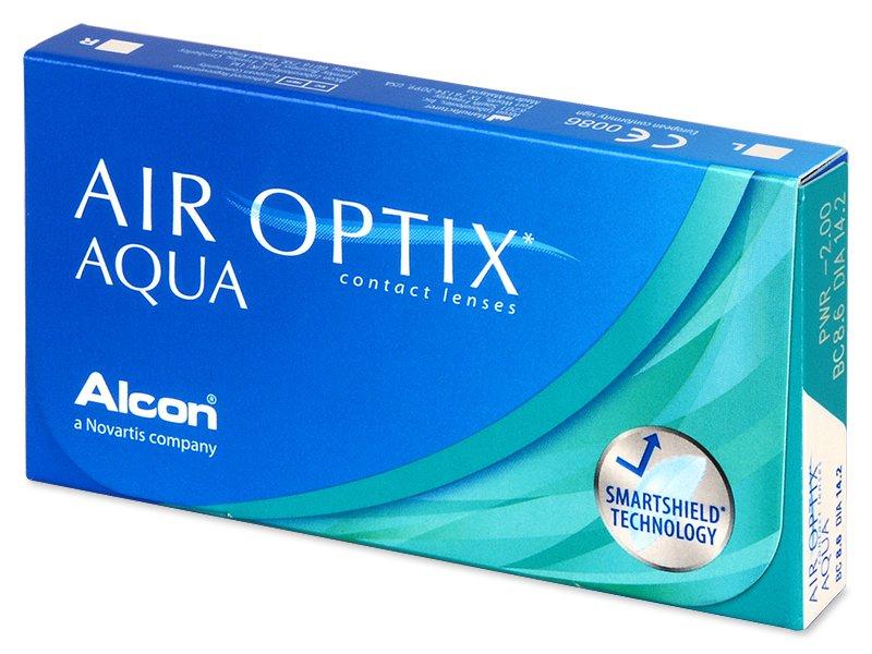 Mesačné kontaktné šošovky - Air Optix Aqua (6šošoviek)