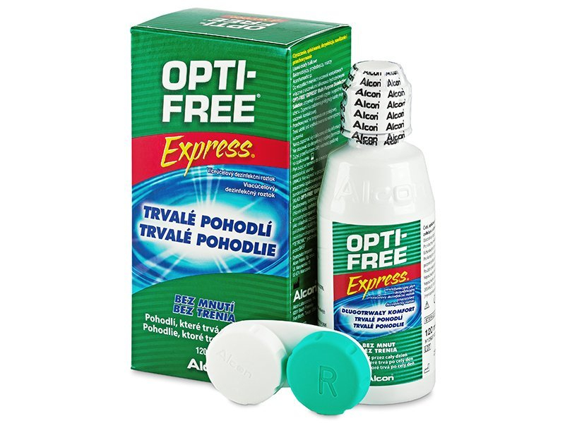 844febc89 Roztok OPTI-FREE Express 120 ml - Čistiaci roztok